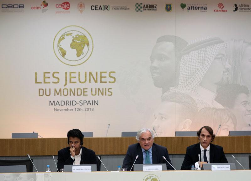 """La asociación """"Les Jeunes du Monde Unis"""" habla de los valores en el mundo para los jónenes en 2018"""